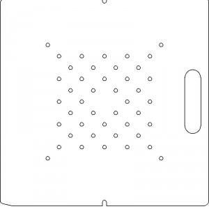 AECL 1/2 inch thick Acrylic Tray 44 - 1/4 inch diameter holes with No Scribing