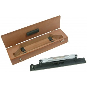 Precision Level with wood case, 12 Inch Long