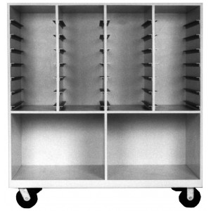 Mobile Storage Cabinet, Tray Size, 11 3/4 Inch to 12 1/4 Inch