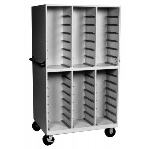 Double Sided Mobile Cabinet, 84 Trays Size, 11 3/4 Inch to 12 1/4 Inch