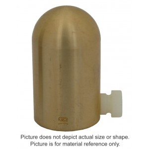 16MV Brass Build-Up Cap - 0.65cc Exradin A12, A12S