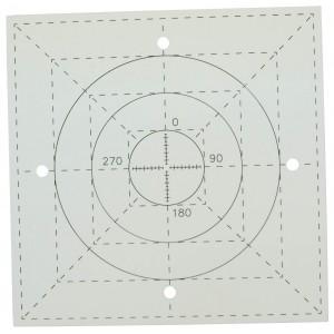 Tungsten Alignment Pattern Plate for Accelerators & Simulators