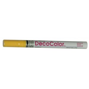 DecoColor Paint Markers, Fine Tip, Yellow
