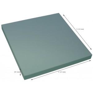 Styrofoam Blocks 3/4 x 11.5 x 11.5 Inch, 25 PSI, Box of 12