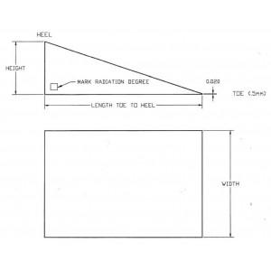 Aluminum Wedge, 15 Degree x Customer Specific W x L