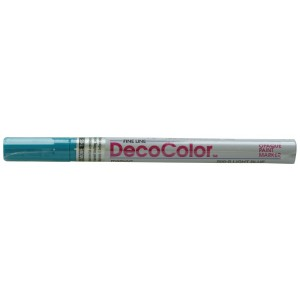 DecoColor Paint Markers, Fine Tip, Light Blue