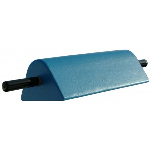 Blue Coated Foam Triangular Wedge with Wood Handle