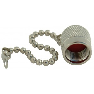Male Dust Cap for TNC-F/M or TNC-M/M Connectors