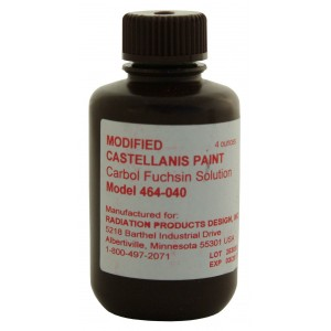 Carfusion Dye/Castellanis Paint, Six 4 ounce Bottles