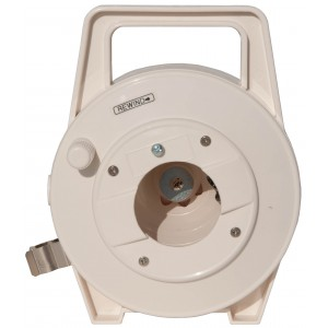 40 Foot (12 Meter), Small Triax Cable Reel, Hub is BNC-M and Extended is BNC-F