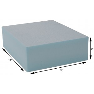 Styrofoam Blocks 2 x 10 x 10 Inch, 25 PSI, Box of 36