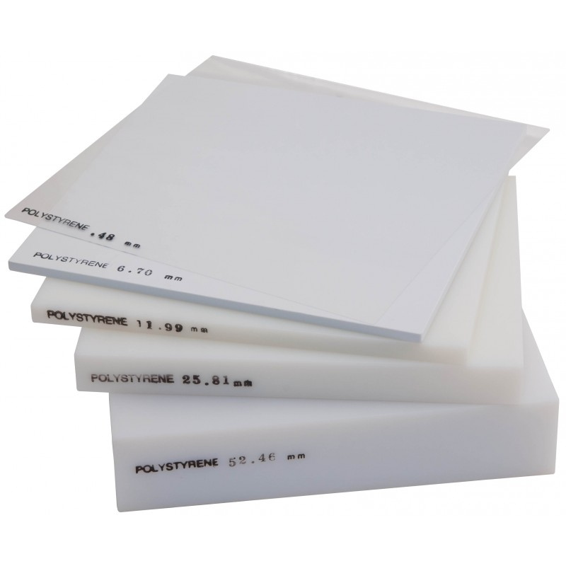Polystyrene Sheet White 0 80mm Thick 1 32 Inch X 25cm Square Radiation Products Design Inc