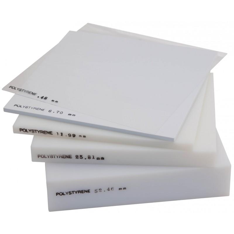 Polystyrene Sheet White 0 80mm Thick 1 32 Inch X 25cm