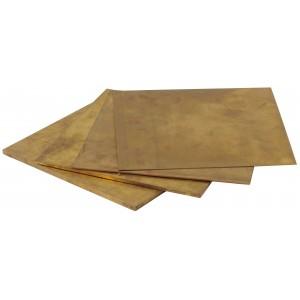 Half Hard Brass Sheet, 0.500 Inch (12.7mm) Thick x 6 Inch Square