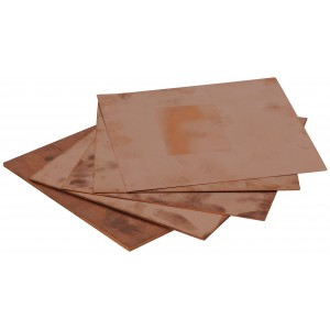 Copper Sheet, 0.021 Inch (0.55mm) Thick x 6 Inch Square