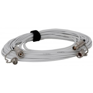 50' (15m) Triax Cable - TNC-M/F and TNC-F/M Connectors