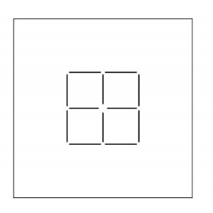 Scribing, 10cm square on Top and Bottom