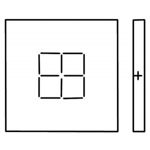 Scribing, 10cm square on Top and Bottom, on 3 Sides