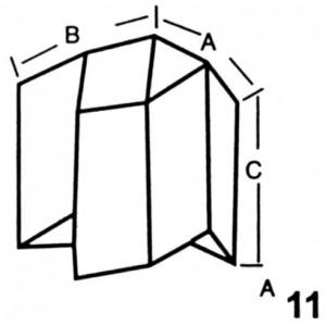 Reverse Corner for Wall Interlocking Lead Brick