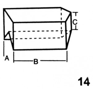 End Top, Left Hand Interlocking Lead Brick