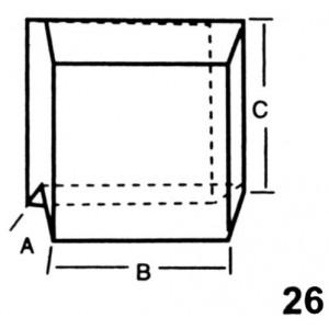 End, Left Hand Interlocking Lead Brick