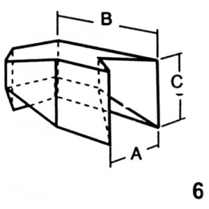 Corner for Top Interlocking Lead Brick