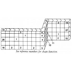 Standard Wall Interlocking Lead Brick