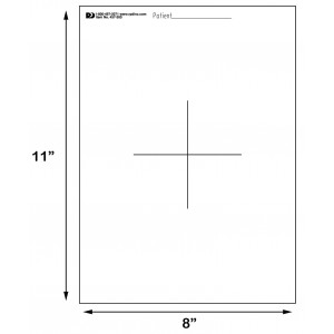 mylar templates with mark 11 inch x 8 inch radiation products