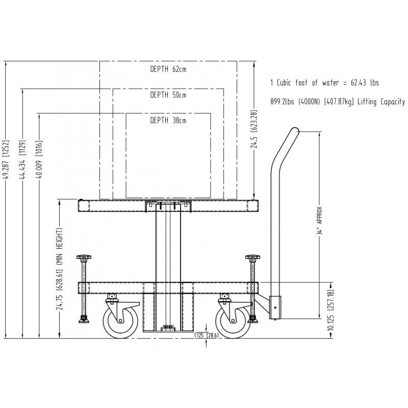 Electric lift table 120vac 5060 hz radiation products design inc next keyboard keysfo Choice Image