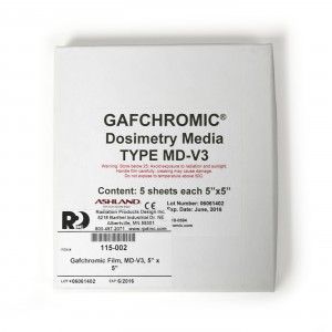 Gafchromic Film, MD-V3, 5 x 5 Inch