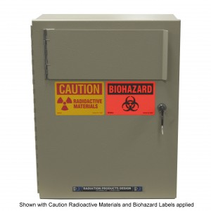 "Lead 1/8"" Shielded Waste Container for Sharps"