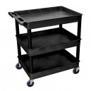 Plastic Utility Cart with Ergonomic Handle and Tub