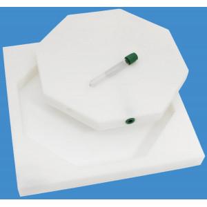 Blood Irradiation Phantom for 7 - 4 ml Vials and Farmer Chamber Cavity