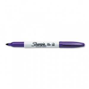 Skin and Film Marking Pen, Purple, Package of 12