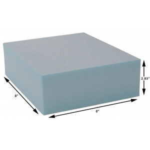 Styrofoam Blocks 2.83 x 8 x 8 Inch, 30 PSI, Box of 72