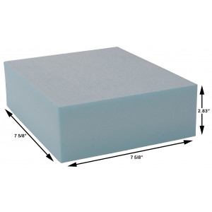 Styrofoam Blocks 2.83 x 7 5/8 x 7 5/8 Inch, 30 PSI, Box of 72