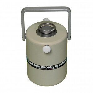 Lead & Tungsten Container with Needle Access to 50cc Vial