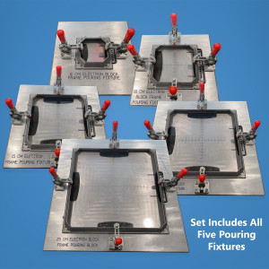 Set of 5 EBS Electron Frame Pouring Fixtures for Varian MLC