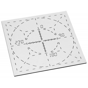 Alignment Pattern in Tungsten, for ISIS QA-1 Phantom