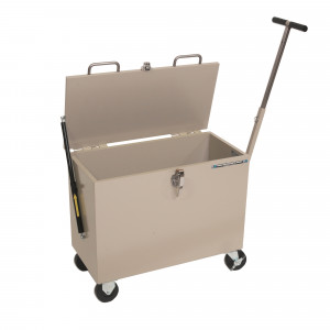 """Shielded Mobile Storage Container - 1/4"""" Pb Equiv. 26""""x12""""x17"""""""