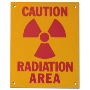 PVC Sign, Caution: Radiation Area, Sign 8 x 10 Inch