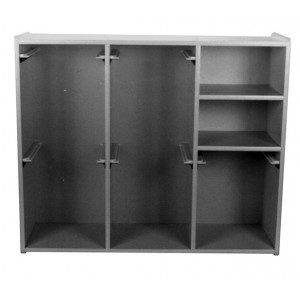 Electron Cone Wall Shelf, Holds 5 Varian Type II (non MLC) or III (with MLC) Electron Cones