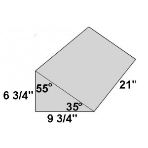Covered Foam Wedge 35/55 Degree Angle