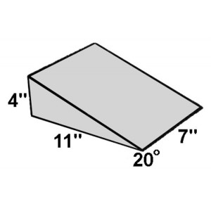 Covered Foam Wedge 20 Degree Angle