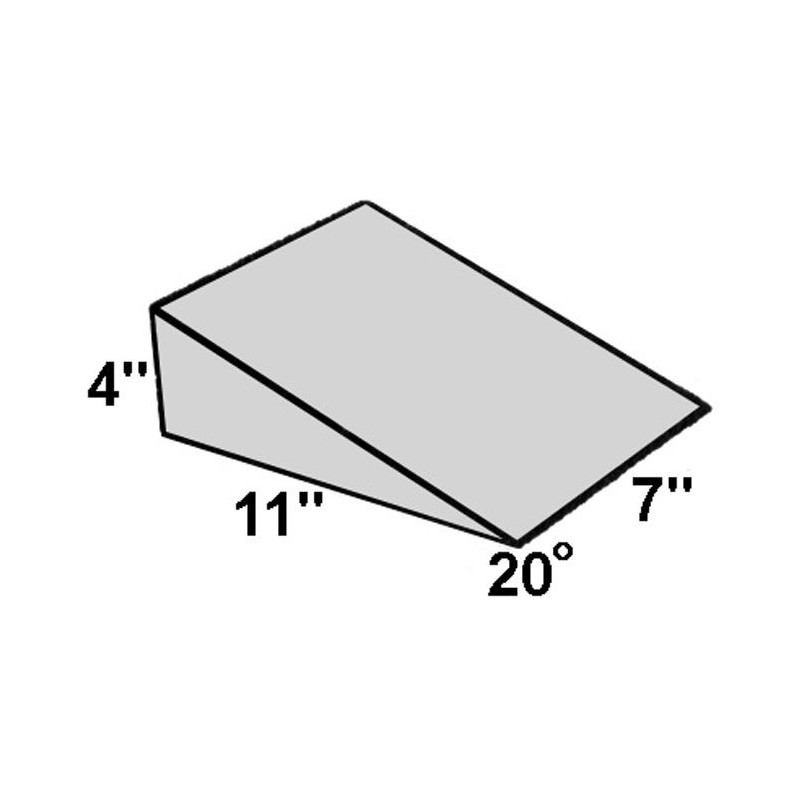 Covered Foam Wedge 20 Degree Angle Radiation Products