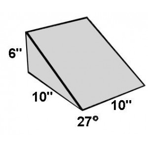 Covered Foam Wedge 27 Degree Angle