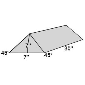 Covered Foam Wedge 45 Degree Angle