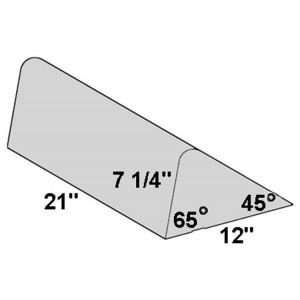 Covered Foam Bolster 45/65 Degree Angle
