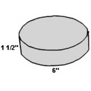Covered Foam Circle 6 inch Diameter