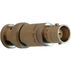 Triax BNC-M and Coax BNC-F Connectors Diode to Electrometer Connector- Single Piece Adapter
